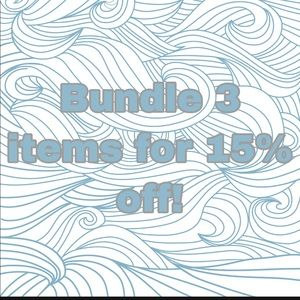 Bundle 3 items for 15% off